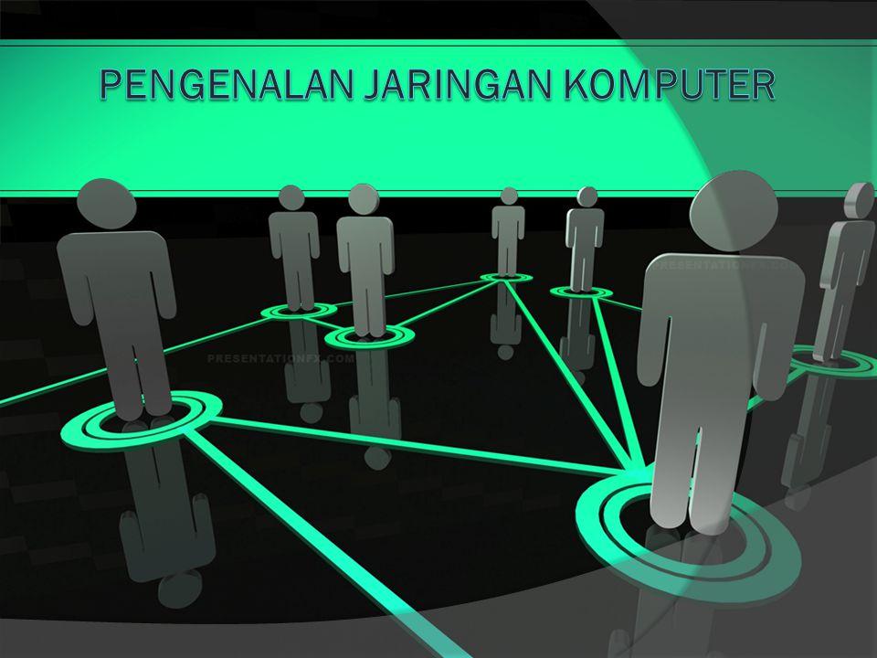 Definisi Jaringan Komputer  Jaringan komputer merupakan sekelompok komputer otonom yang saling berhubungan antara satu dan lainnya menggunakan protokol komunikasi melalui media komunikasi sehingga dapat saling berbagi informasi, program-program, penggunaan perangkat keras secara bersama (interkoneksi sejumlah komputer).
