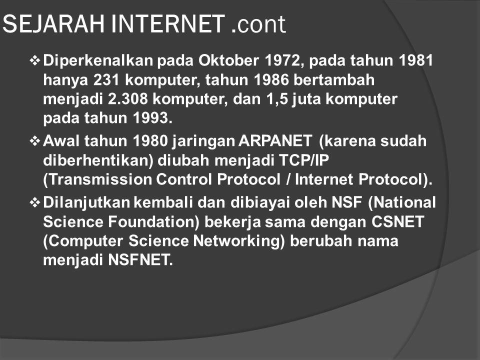 Client - Server  Selain pada jaringan lokal, juga dapat diterapkan dengan teknologi internet.