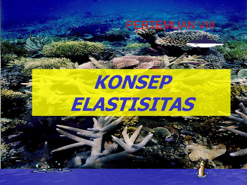 KONSEP ELASTISITAS PERTEMUAN VIII