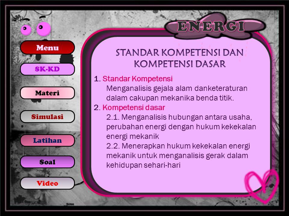 2.Energi potensial benda bermassa 5 kg pada ketinggian 5 meter adalah..