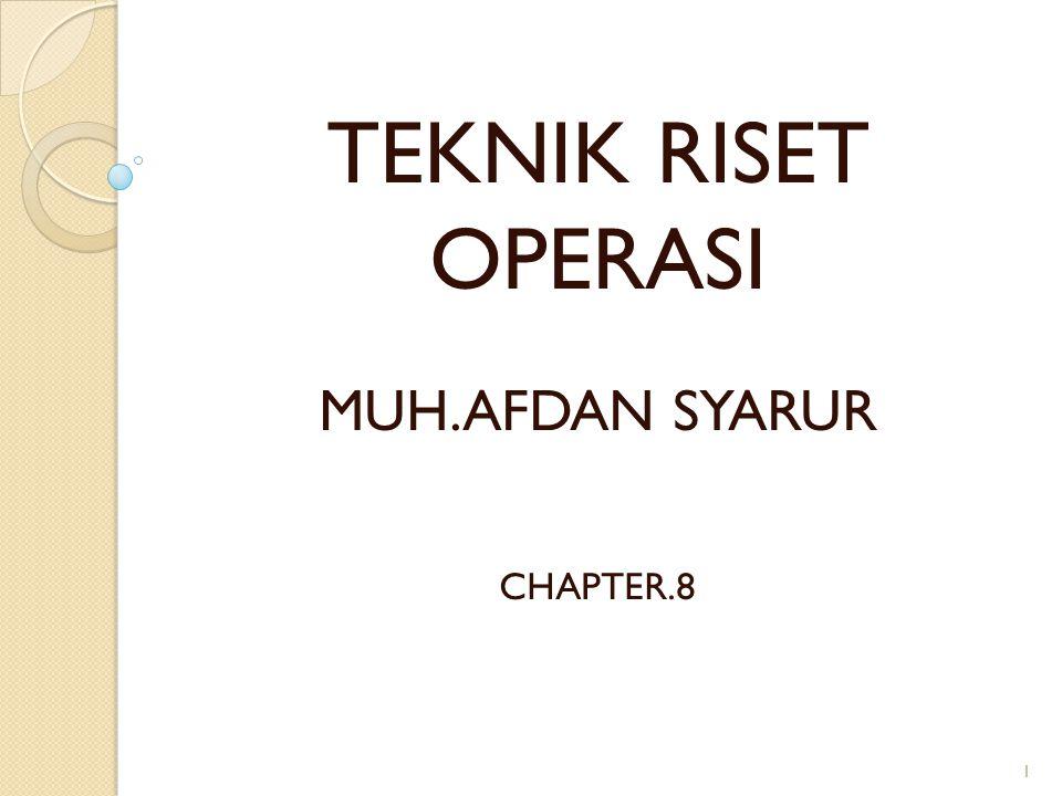 TEKNIK RISET OPERASI MUH.AFDAN SYARUR CHAPTER.8 1