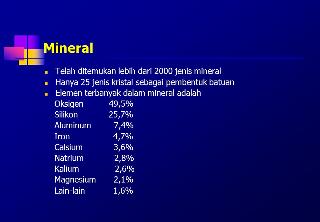 Senyawa inorganik dalam tanah Pelapukan batuan dan mineral menghasilkan senyawa inorganik dalam tanah yang berupa koloidal inorganik Koloidal inorganik sebagai tempat penyimpan air dan nutrien yang dibutuhkan tanaman.