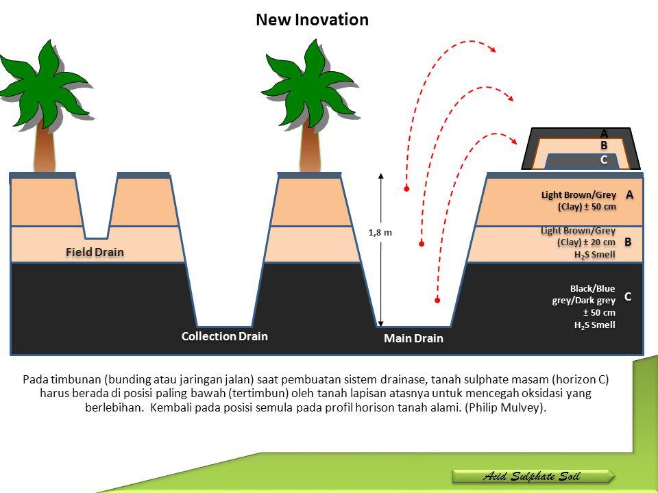 Pencegahan oksidasi terhadap pirit yang berada dalam blok pun akan dipengaruhi oleh jarak parit dengan pirit tersebut.