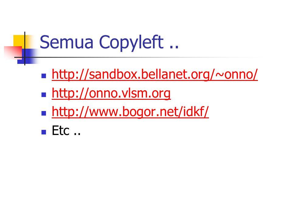 Semua Copyleft..