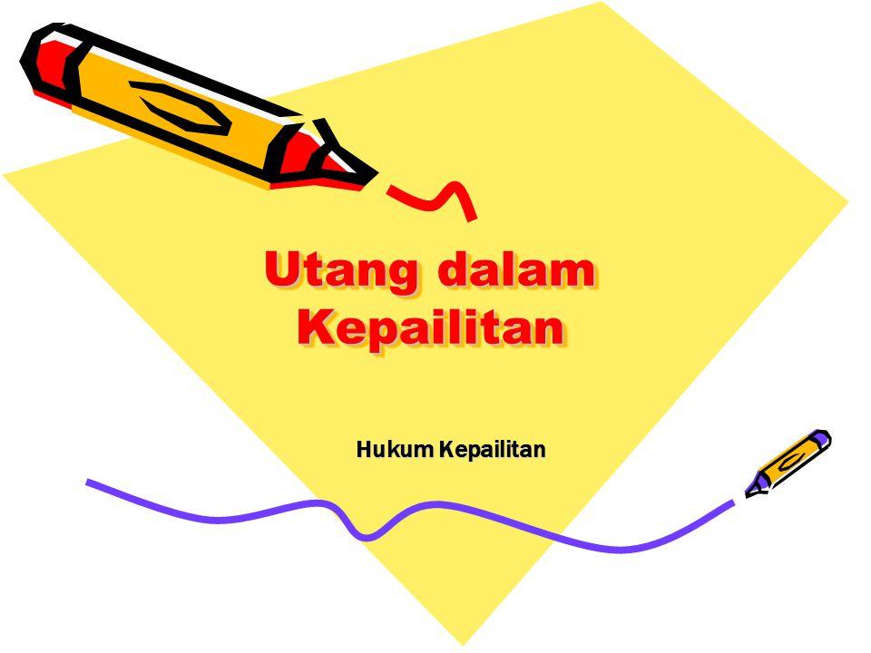 12 Jenis Jenis Debitor dan Kreditor Indonesia hanya mengenal satu Debitor dan Kreditor namun dalam pengajuan permohonan pailit dibedakan antara : - Debitor bukan bank dan Bukan perusahaan efek - Debitor bank - Debitor perusahaan efek –Debitor Perusahaan Asuransi, Reasuransi, Dana pensiun, BUMN yang bergerak di bidang kepentingan publik Amerika dan beberapa negara Common Law System memisahkan jenis jenis Debitor menjadi 2 yaitu : 1.