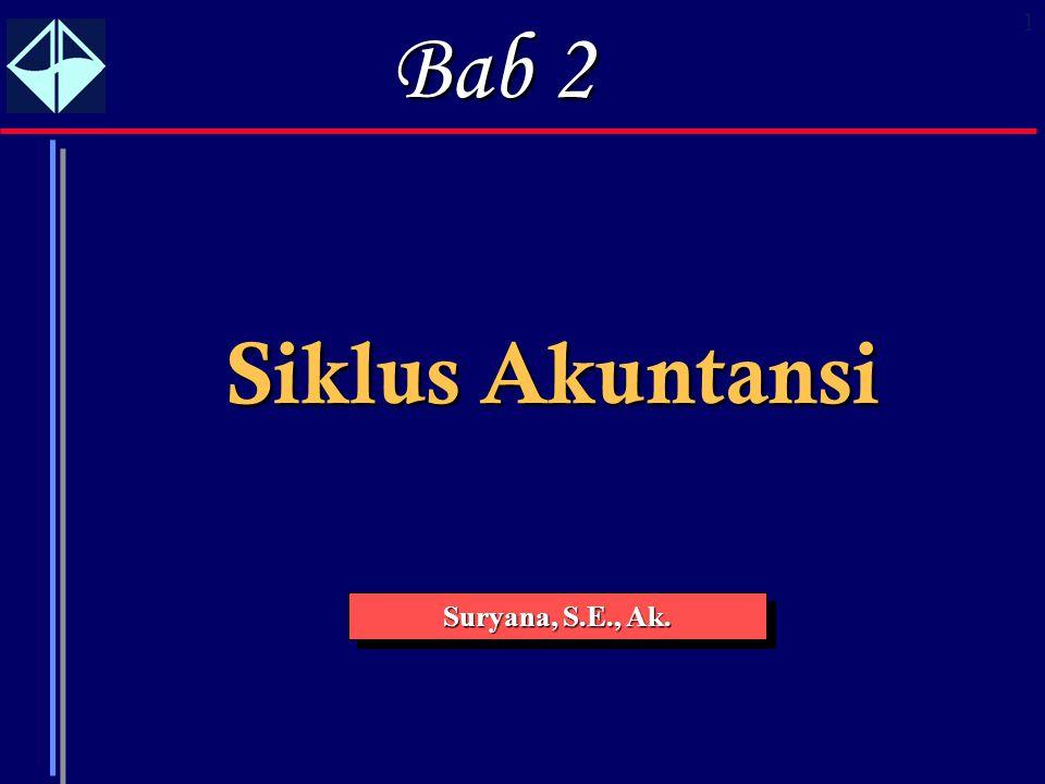 1 Siklus Akuntansi Suryana, S.E., Ak. Bab 2
