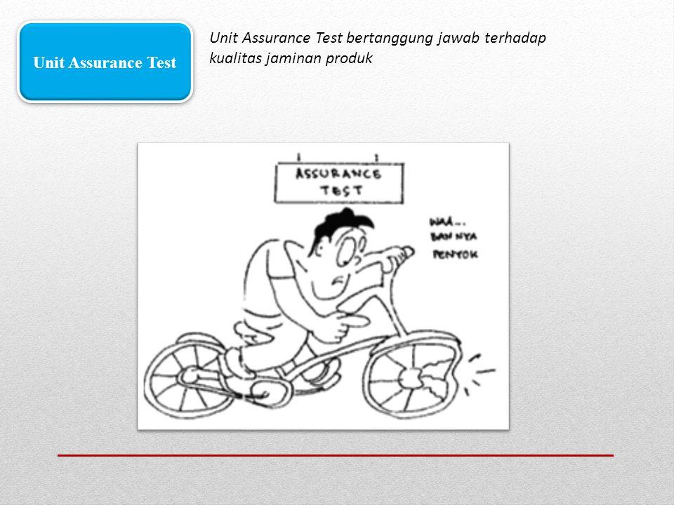 Unit Assurance Test bertanggung jawab terhadap kualitas jaminan produk Unit Assurance Test