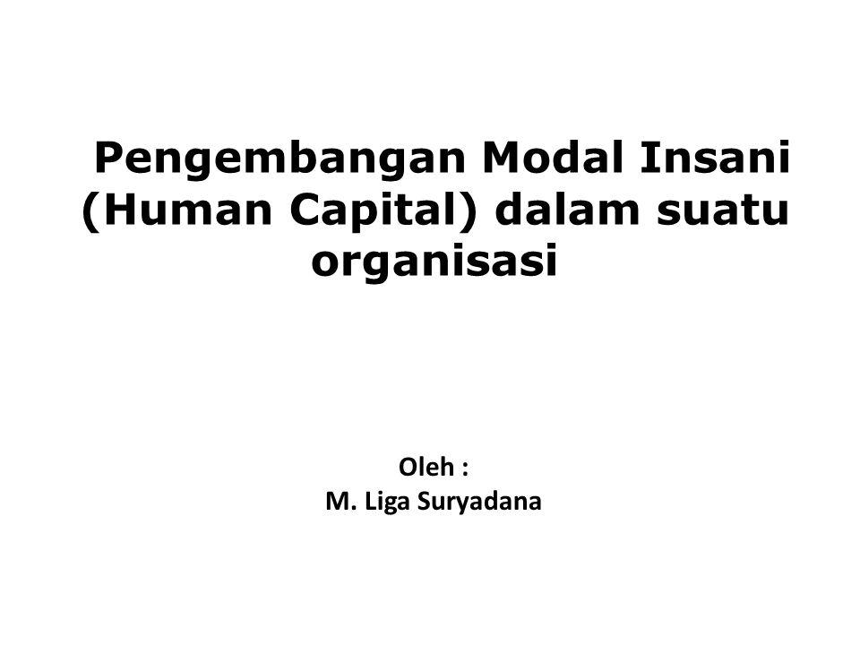Pengembangan Modal Insani (Human Capital) dalam suatu organisasi Oleh : M. Liga Suryadana