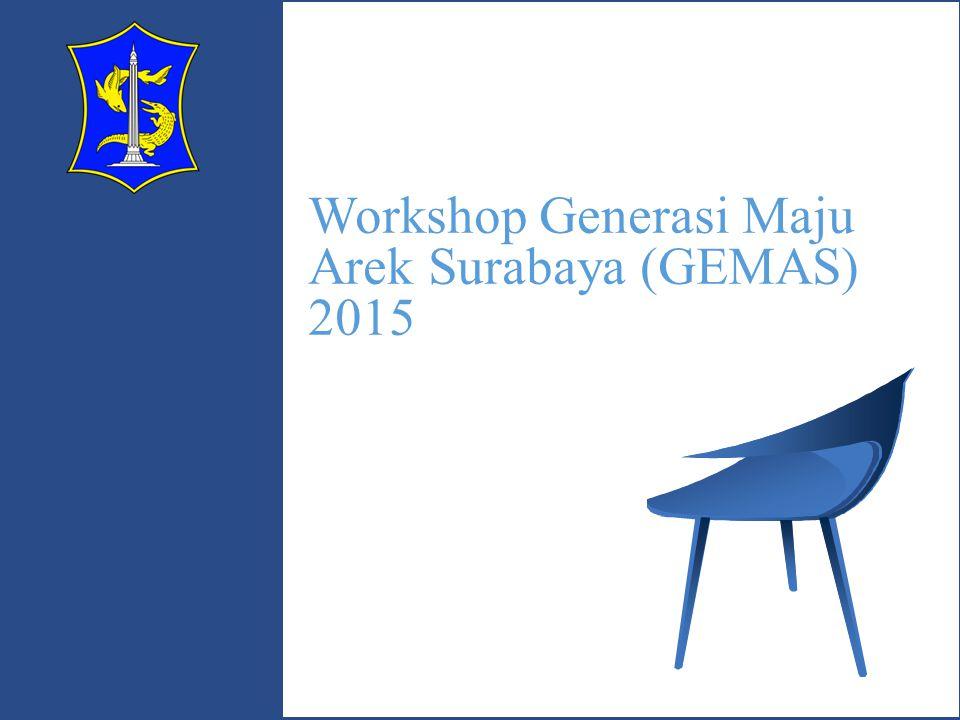 Workshop Generasi Maju Arek Surabaya (GEMAS) Pemerintah Kota Surabaya dalam rangka menyambut Hari Jadi Kota Surabaya (HJKS) Ke 722 menyelenggarakan pembelajaran (Workshop) yang berbasis Teknologi Informasi dan PROGRAM INKUBATOR dengan pihak Perguruan Tinggi (PT) untuk para kalangan pelajar SMP- SMA/SMK Negeri dan Swasta Se-Kota Surabaya