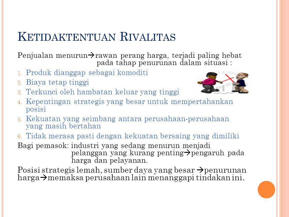 S UMBER H AMBATAN K ELUAR Hambatan Pemerintah dan Sosial Mekanisme untuk penjualan harta kekayaan 1.