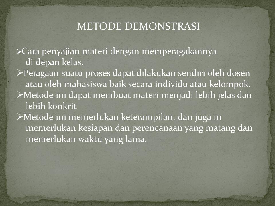METODE EKSPERIMEN  Metode pembelajaran dengan menggunakan percobaan.