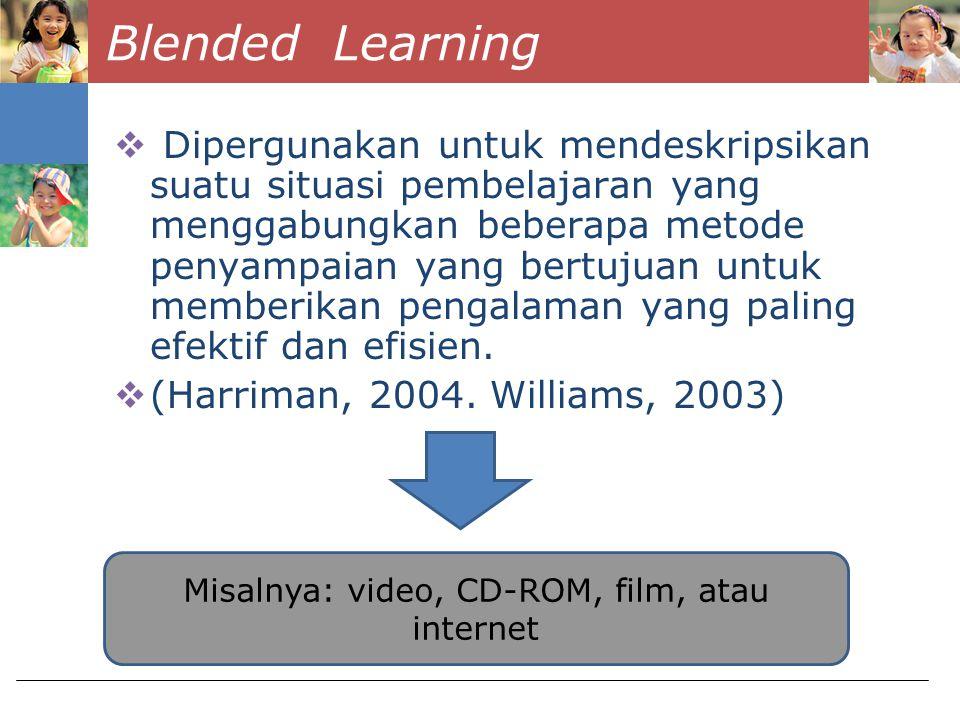 3C UNTUK MERANCANG BLENDED LEARNING Content (Isi Materi Pembelajaran) 1 2 3 Communication (Komunikasi antara siswa dan guru serta antarsiswa itu sendiri) Construction (penciptaan kondisi mental pembelajar untuk membantu memetakan posisi mereka dalam lanskap pembelajaran) Kerres and De Witt (2003)