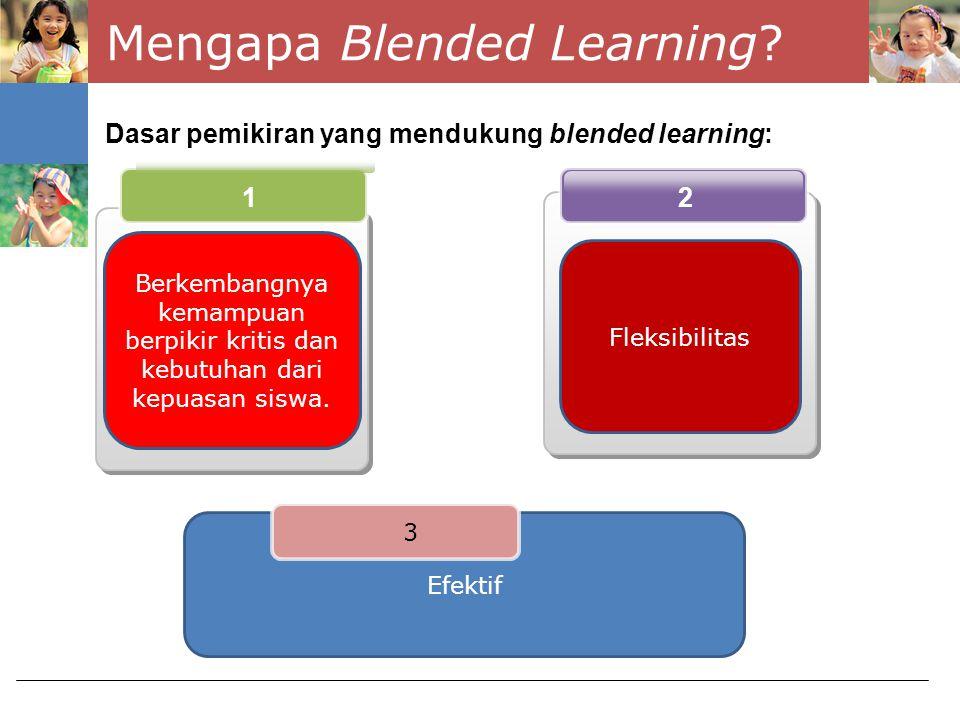 Kelebihan Blended Learning 2.Penurunan waktu kelas secara fisik 1.