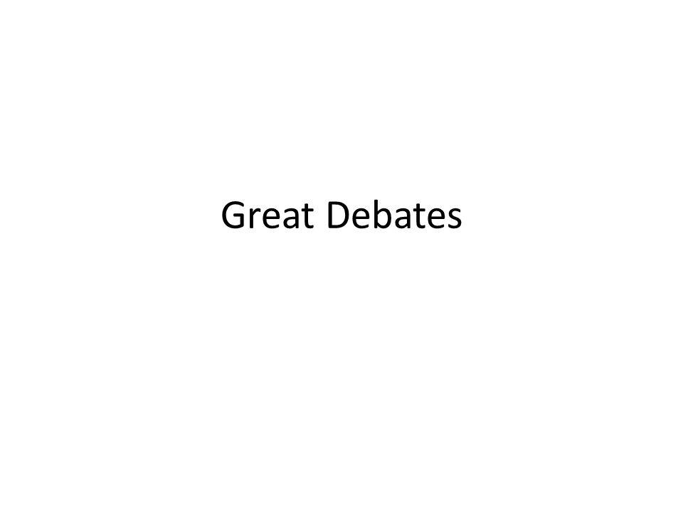 Great Debates