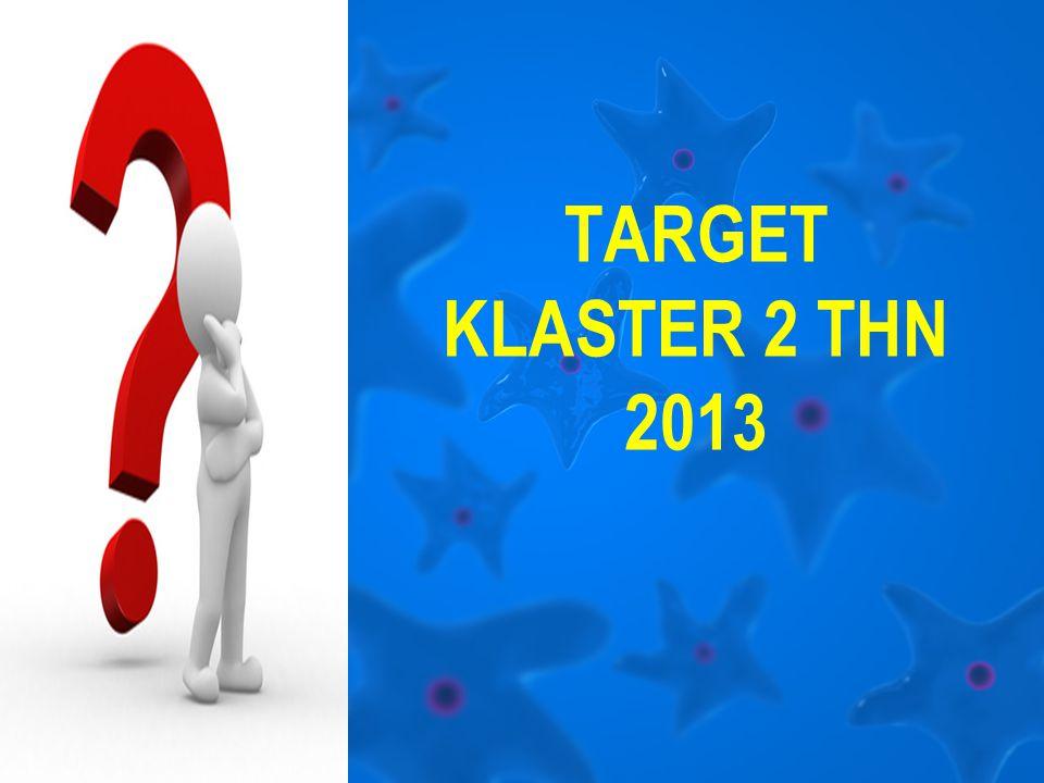 TARGET KLASTER 2 THN 2013