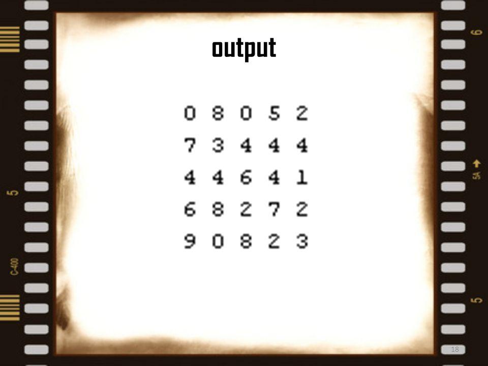 output 18