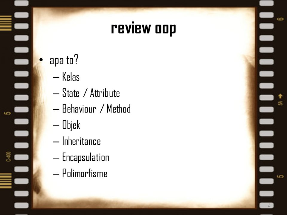 review oop apa to.