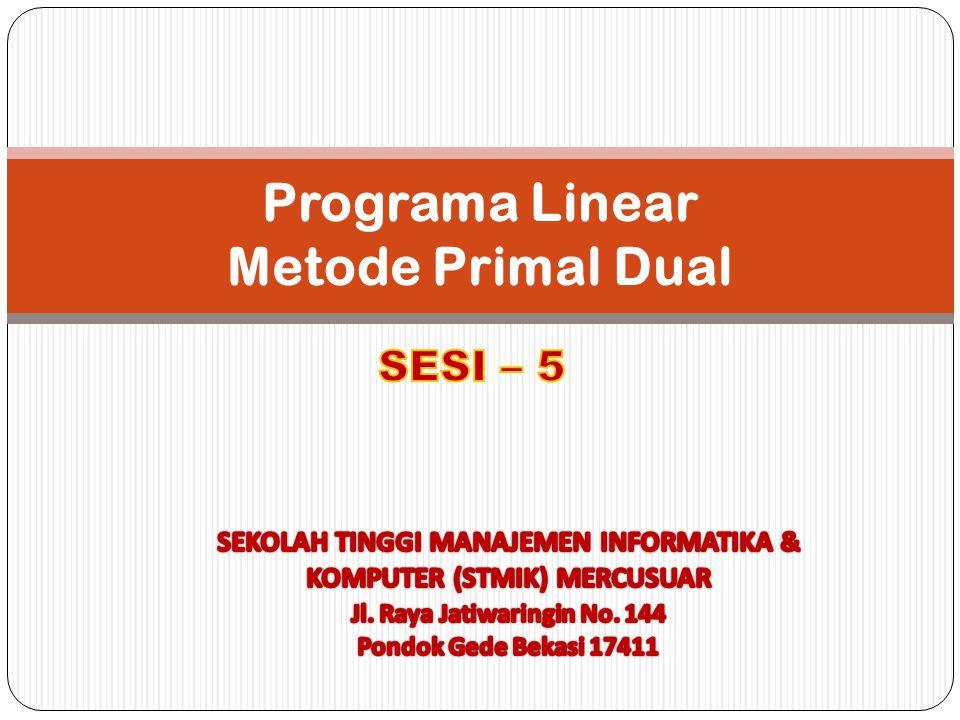 Programa Linear Metode Primal Dual