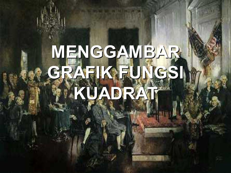 MENGGAMBAR GRAFIK FUNGSI KUADRAT