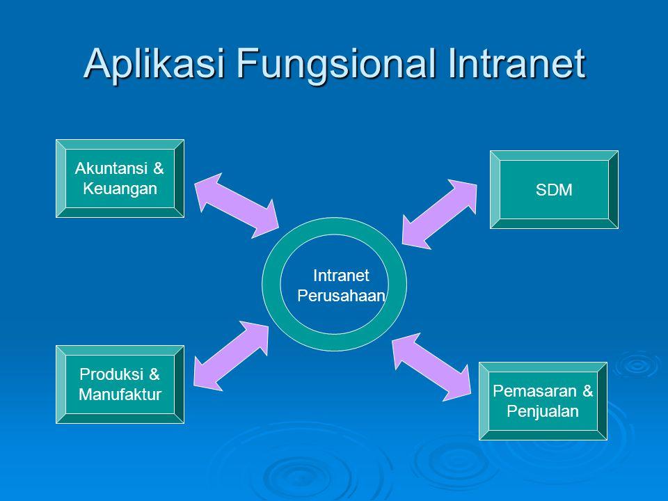 Aplikasi Fungsional Intranet Akuntansi & Keuangan Produksi & Manufaktur Pemasaran & Penjualan SDM Intranet Perusahaan