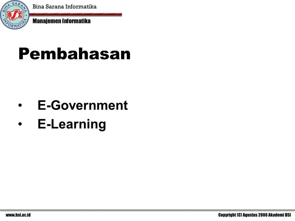 E-Government E-Learning Pembahasan
