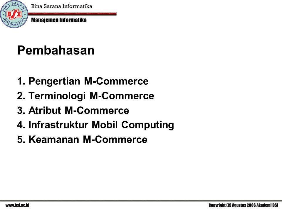 Pembahasan 1.Pengertian M-Commerce 2. Terminologi M-Commerce 3.