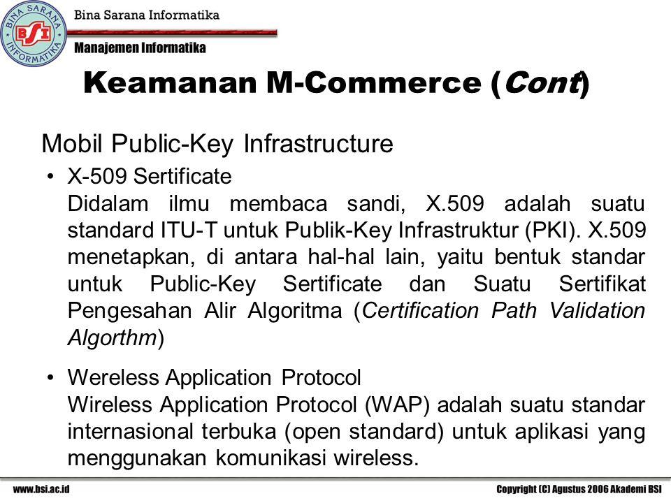 X-509 Sertificate Didalam ilmu membaca sandi, X.509 adalah suatu standard ITU-T untuk Publik-Key Infrastruktur (PKI).