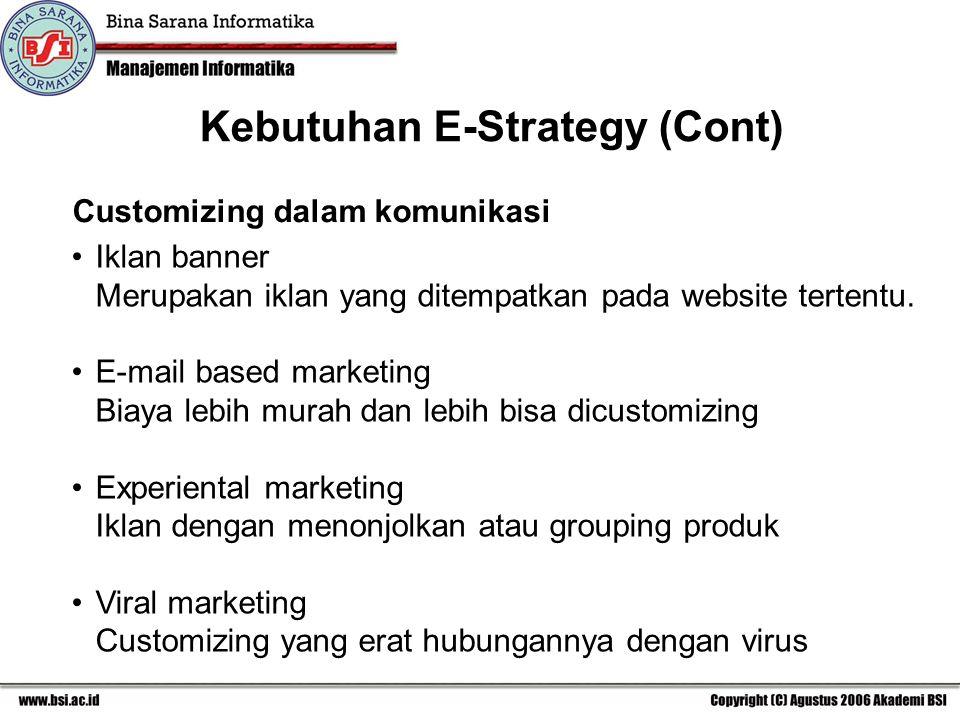 Customizing dalam komunikasi Iklan banner Merupakan iklan yang ditempatkan pada website tertentu.