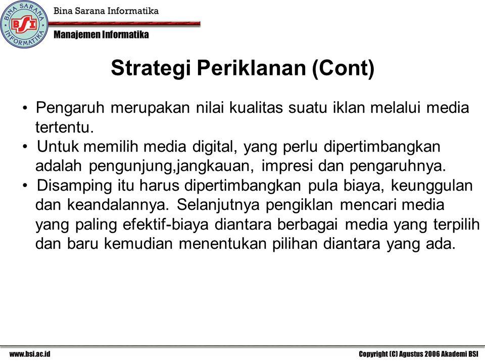 Pengaruh merupakan nilai kualitas suatu iklan melalui media tertentu.