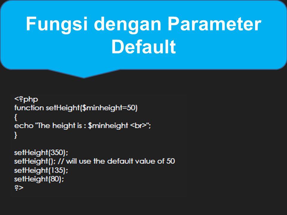 Fungsi dengan Parameter Default