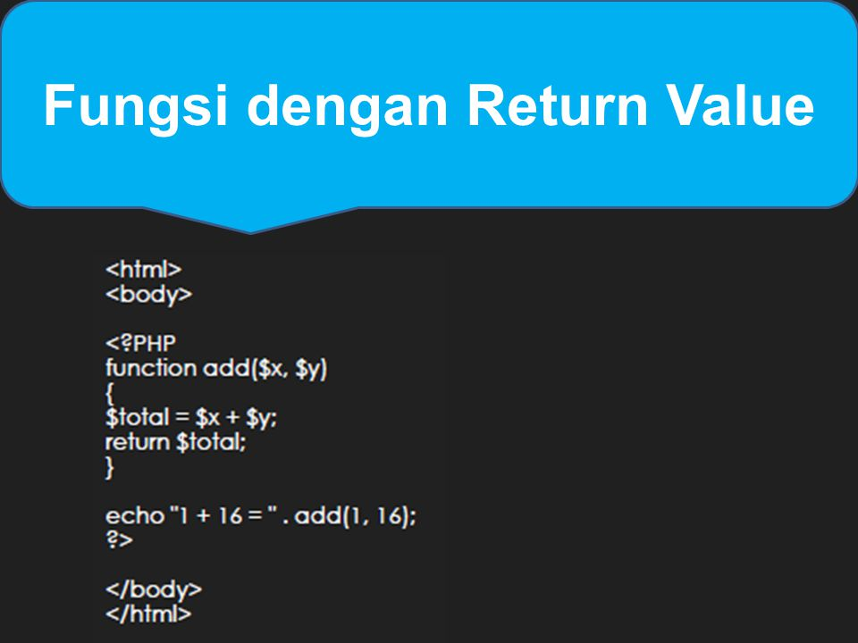 Fungsi dengan Return Value