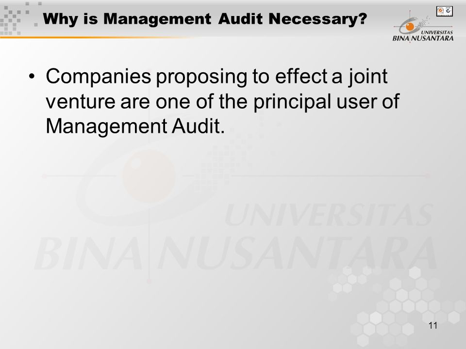 11 Why is Management Audit Necessary.