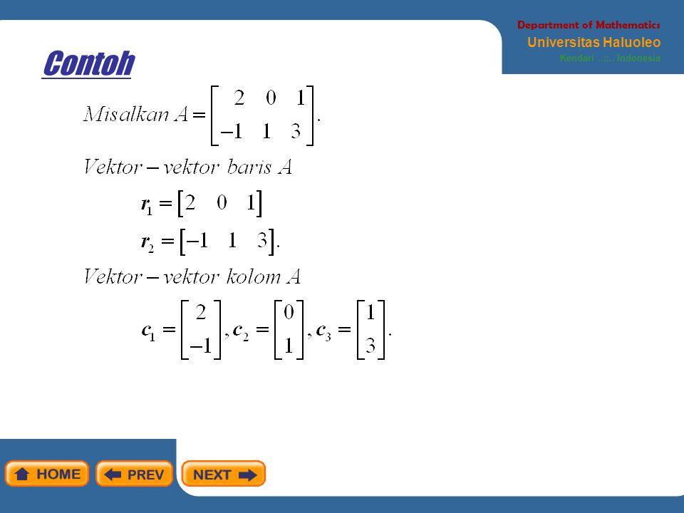 Contoh Department of Mathematics Universitas Haluoleo Kendari..::.. Indonesia