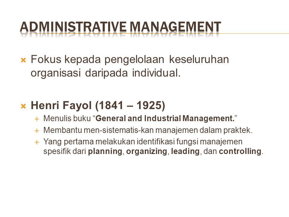  Perintis Scientific Management lainnya  Frank Gilbreth (1868 – 1924) dan Lillian Gilbreth (1878 – 1972)  Mengurangi jumlah gerakan dalam pembuatan