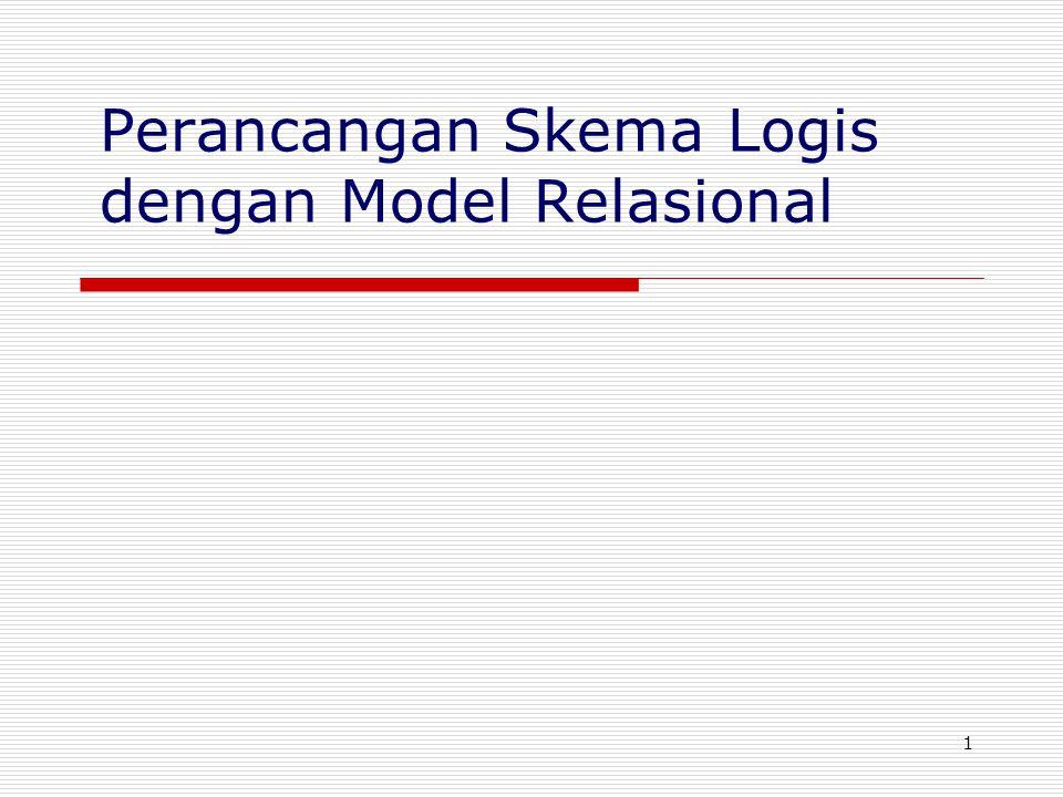 2 Sasaran  Tinjauan ringkas: Konsep-konsep utama model database relasional.
