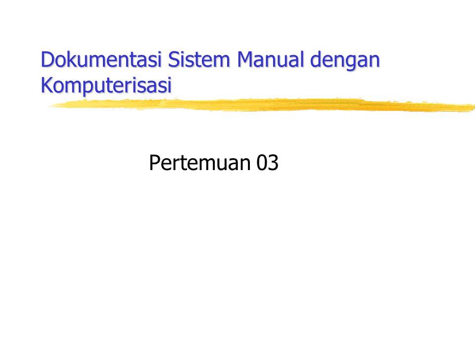 Dokumentasi Sistem Manual dengan Komputerisasi Pertemuan 03
