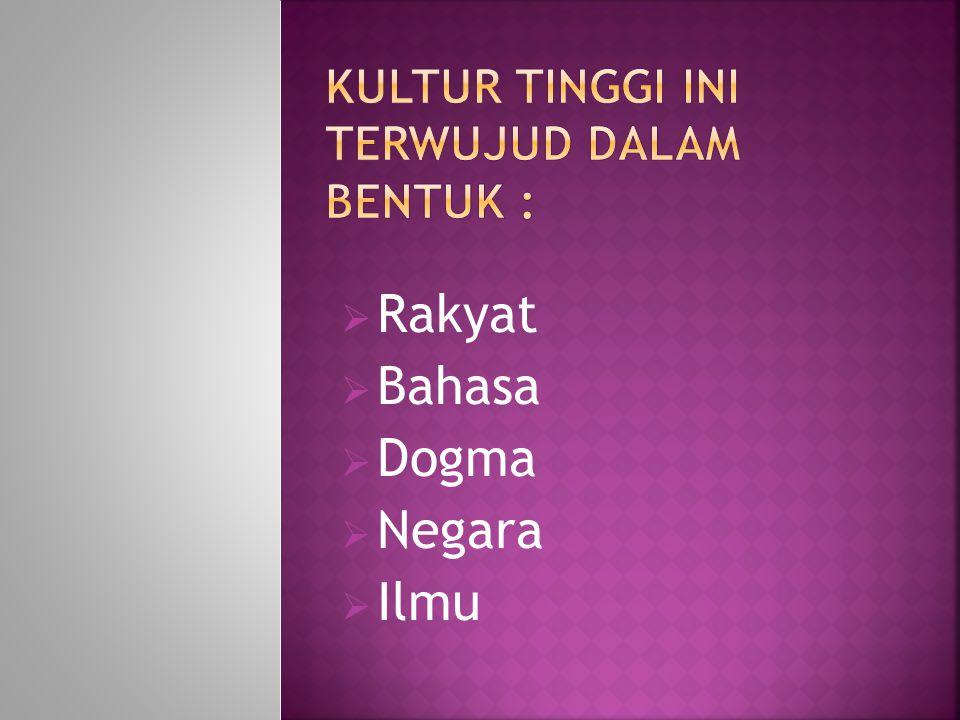 Rakyat  Bahasa  Dogma  Negara  Ilmu
