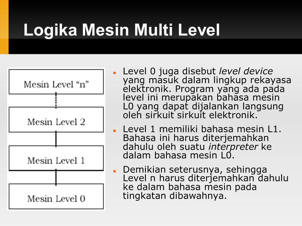 Logika Mesin Multi Level Level 0 juga disebut level device yang masuk dalam lingkup rekayasa elektronik.