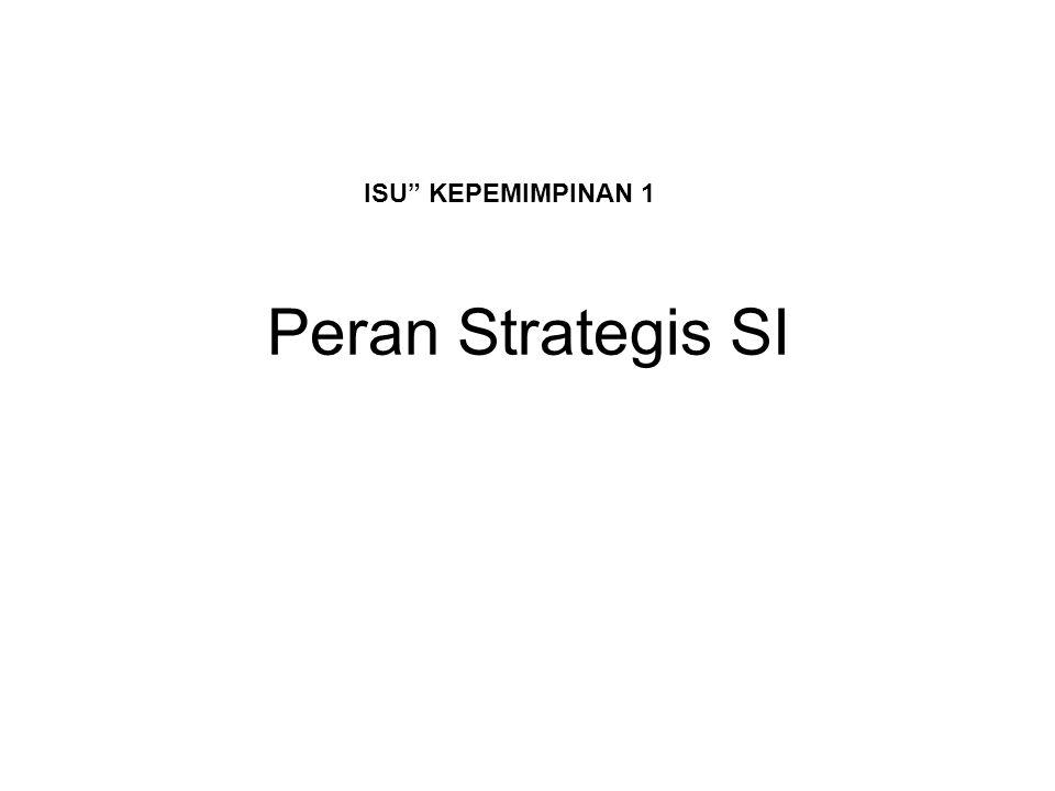 """Peran Strategis SI ISU"""" KEPEMIMPINAN 1"""