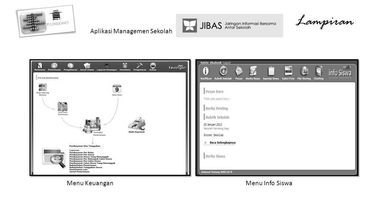 Lampiran Aplikasi Managemen Sekolah Menu KeuanganMenu Info Siswa