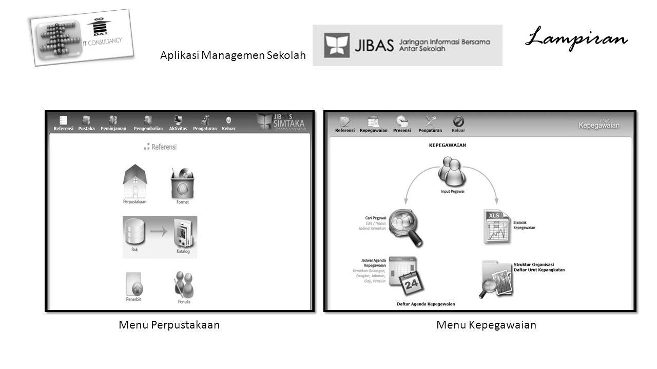Lampiran Aplikasi Managemen Sekolah Menu PerpustakaanMenu Kepegawaian