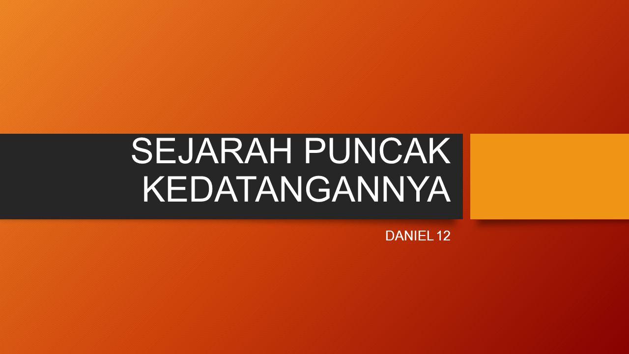 PENDAHULUAN Daniel 12:1aDaniel 12:1a Pada waktu itu ini menyangkut peperangan yang terus berlanjut antara negeri utara dan selatan (Daniel 11:44,45). Pada waktu itu ini menyangkut peperangan yang terus berlanjut antara negeri utara dan selatan (Daniel 11:44,45).