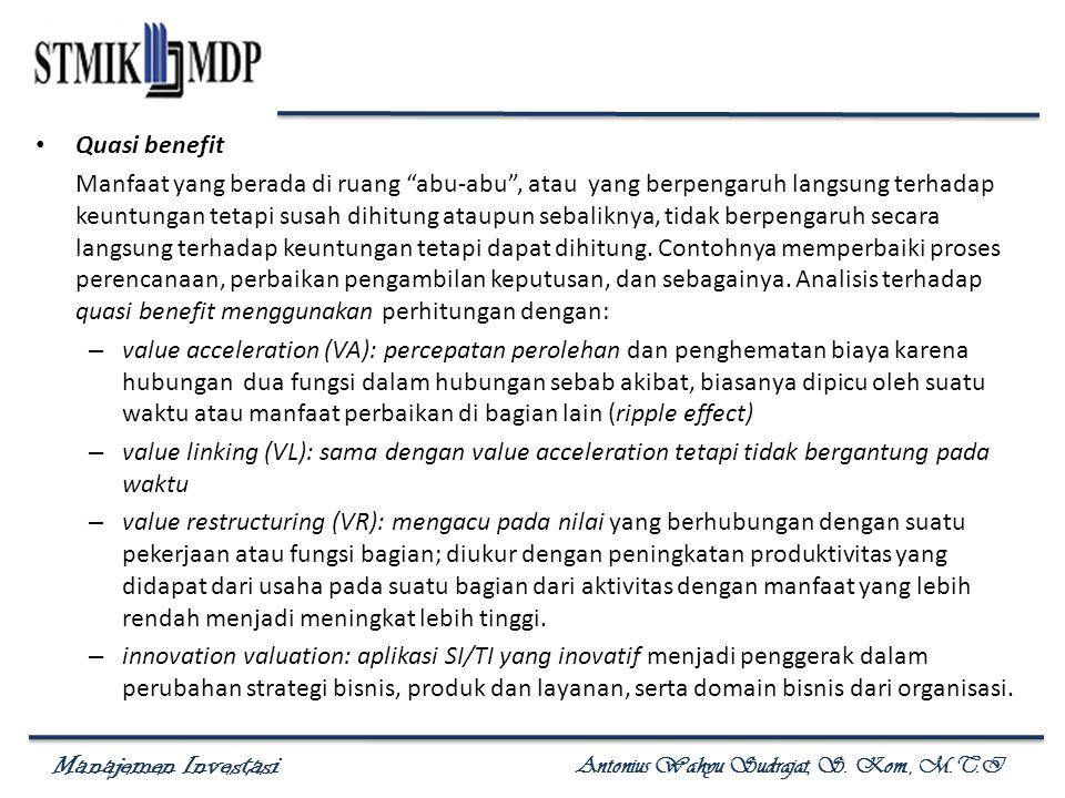 Manajemen Investasi Antonius Wahyu Sudrajat, S. Kom., M.T.I Nilai Korporat organisasi