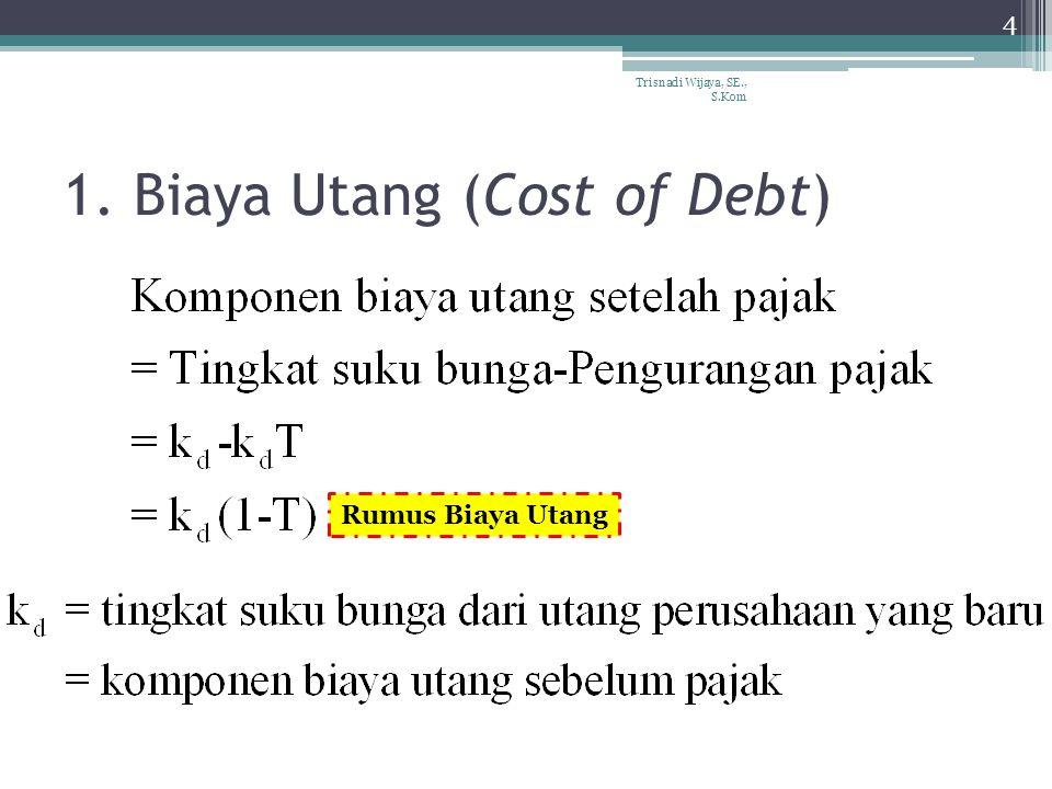 1. Biaya Utang (Cost of Debt) 4 Trisnadi Wijaya, SE., S.Kom Rumus Biaya Utang