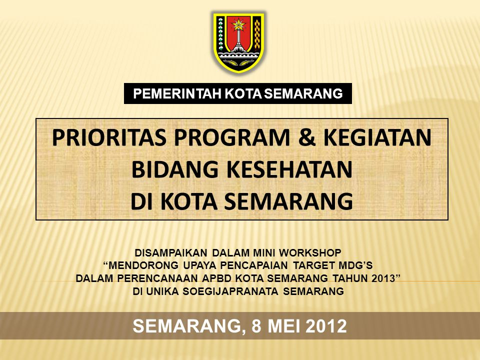VISI MISI 1 1 Mewujudkan Sumberdaya Manusia dan Masyarakat Kota Semarang yang Berkualitas.