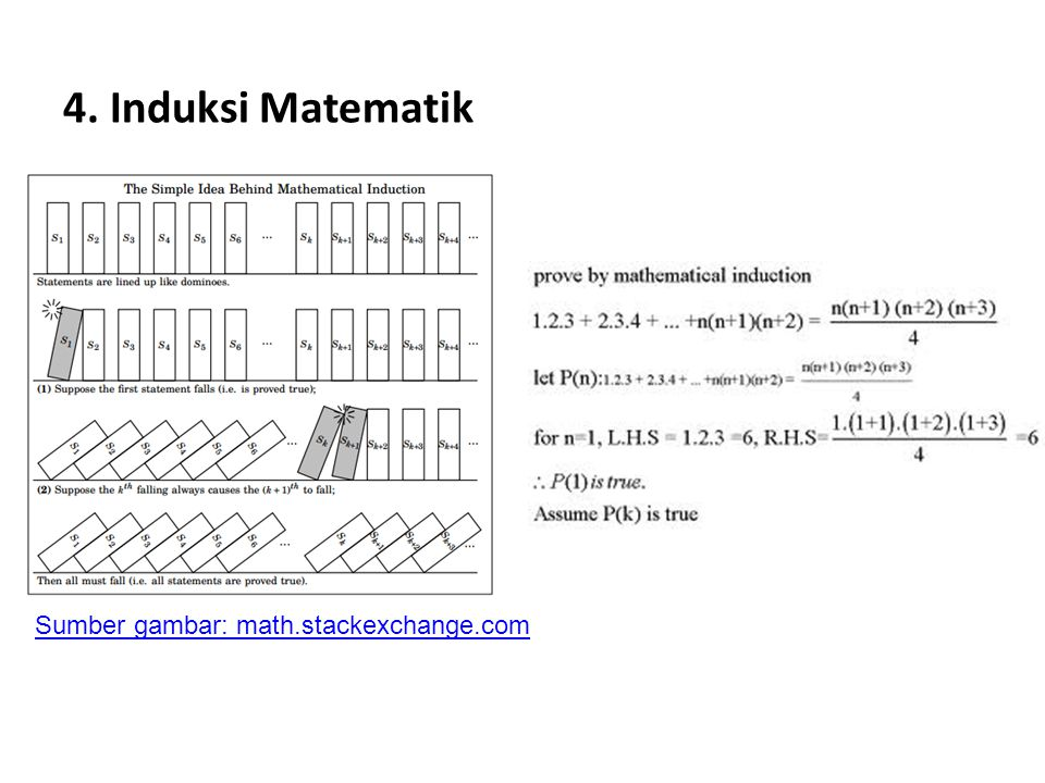 4. Induksi Matematik Sumber gambar: math.stackexchange.com