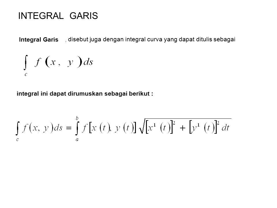 CONTOH Hitunglah Integral Curva dari fungsi sebagai berikut : dengan C ditentukan oleh persamaan parameter x = 3 cos t dan y = 3 sin t, Penyelesaian X = 3 cost t dx = -3 sin t dt