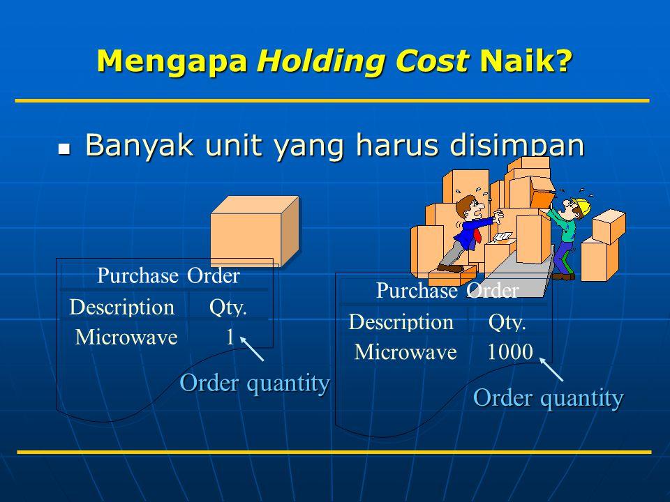 Banyak unit yang harus disimpan Banyak unit yang harus disimpan Purchase Order DescriptionQty. Microwave1 Order quantity Purchase Order DescriptionQty