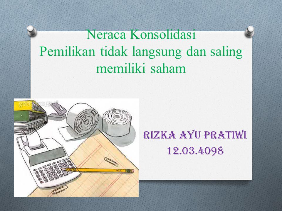Neraca Konsolidasi Pemilikan tidak langsung dan saling memiliki saham Rizka Ayu Pratiwi 12.03.4098