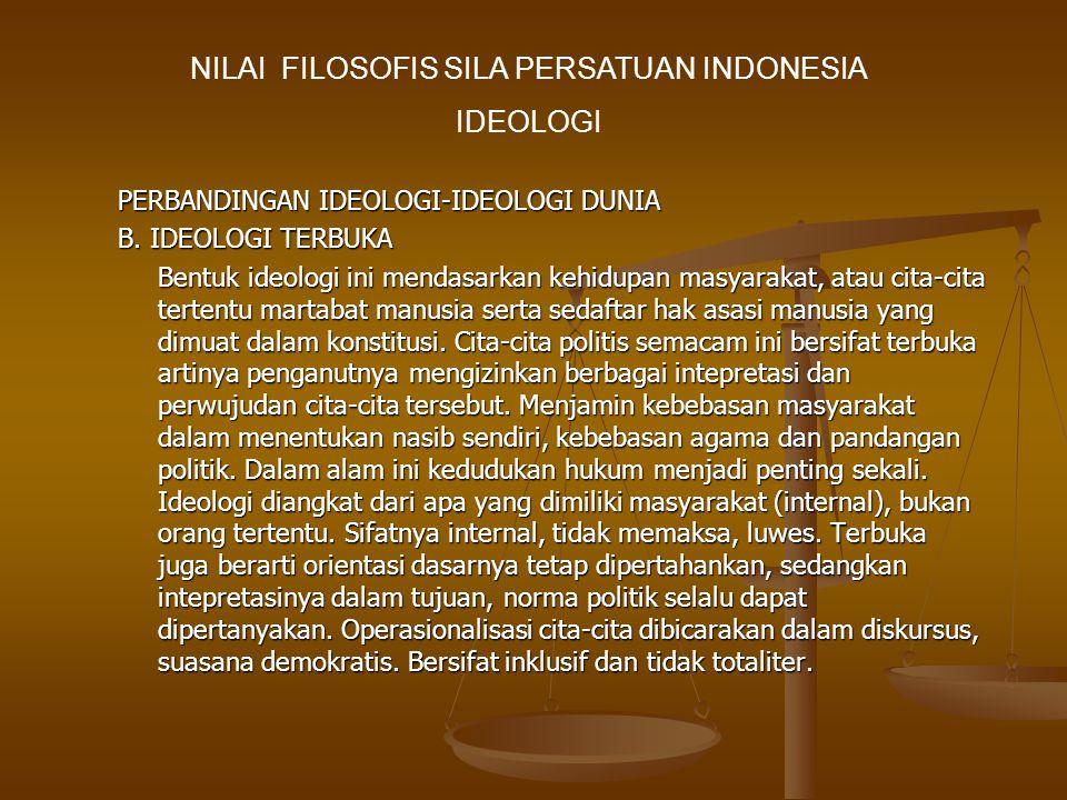 PERBANDINGAN IDEOLOGI-IDEOLOGI DUNIA B.
